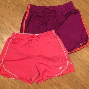 Nike mesh material shorts size medium